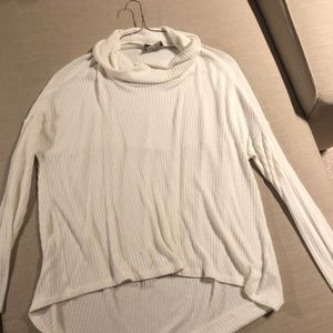 Winter White Anthropologie M/L Cowl Neck Sweater